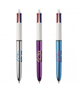 BIC® 4 Colours Shine penna a sfera