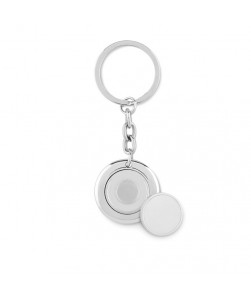 FLAT RING - Portachiavi tondo con moneta