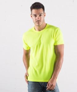 ragazzo con maglietta giallo fluorescente manica corta